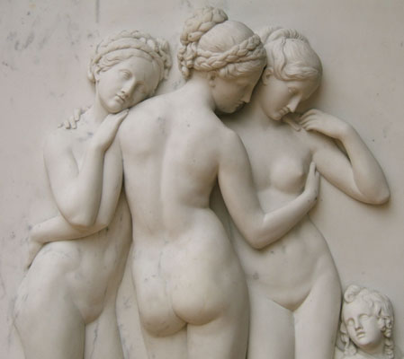 Relief sculpture of The Three Graces.