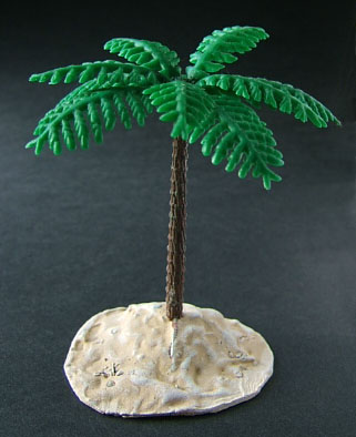 LLOYDIAN MODELLING TIPS: making scenery - palm trees